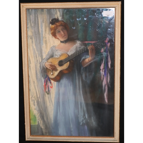 392 - Henry Meynell Rheam (1859-1920) Newlyn School Artist, Mixed Media Pastel And Watercolour, Portrait O...