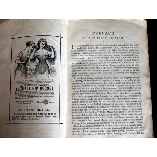 400 - Two Antique Cooking Books, Mrs Beetons & Domestic Cookery BY A Lady Mrs Rundel, New Edition....