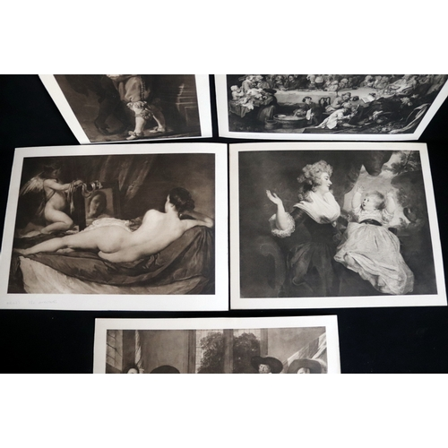 464 - Five black and white/sepia reproduction prints of classics on board around 40 by 30 cm...