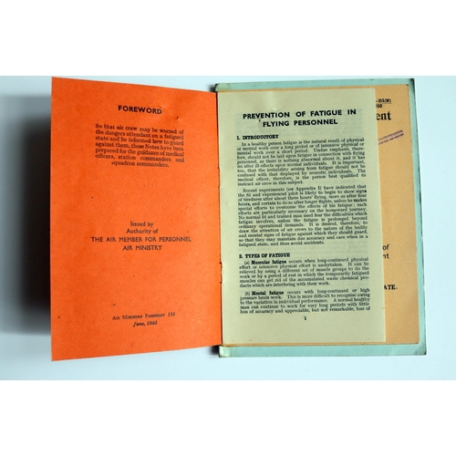 402 - Air Ministry pamphlet 154 (June 1943) – Notes on the prevention of fatigue in flying personnel, atta...