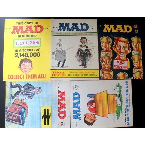 415 - 5 Copies Of Mad Magazine No's 67, 82, 84, 107 And 110. All Bar One Are Pre Decimal Varieties Of This...