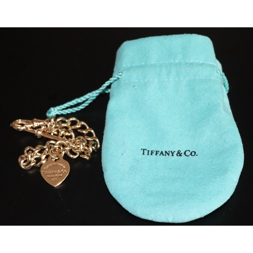 13 - Tiffany & Co 18ct Gold Heart Shaped Charm, Please Return To Tiffany & Co New York, Fully Hallmarked ...