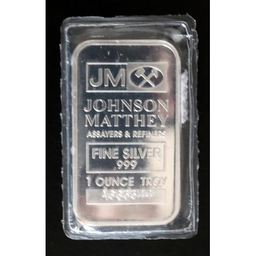 57 - Johnson Matthay Fine Silver 999 1 Oz Bar...