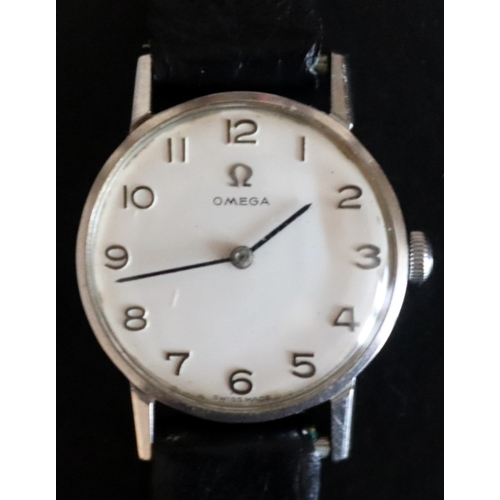 61 - Ladies Omega Wristwatch Silvered Dial, Arabic Numerals, 24mm Stainless Steel Case Numbered 511.021, ...