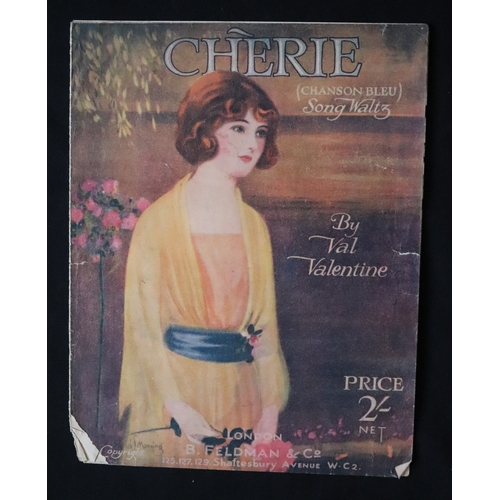 342 - Cherie (Chanson Bleu) Song Waltz, Val Valentine Sheet Music, B. Feldman & Co London...
