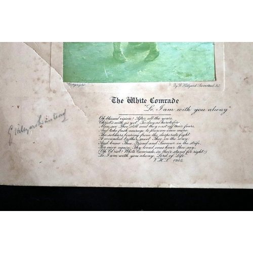 387 - Military Interest, WWI Print With Poem, Signed...