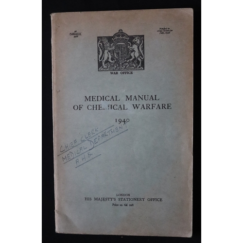 391 - Military Interest, Medical Manual Of Chemical Warfare 1940...