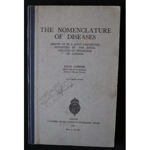 393 - Military Interest, The Nomenclature Of Diseases Sixth Edition 1931...