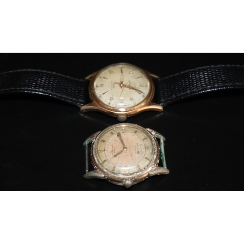 15 - Gents Mid 20thC Automatic Wristwatch, Lattice Effect Dial With Arabic And Baton Numerals With Date A...