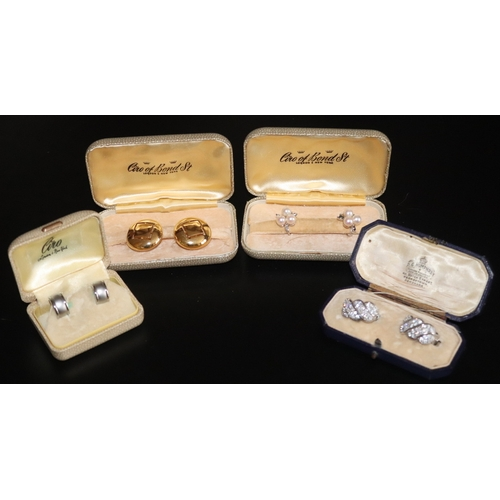127 - Collection Of Earrings To Include Trifari Clip Ons, Ciro Numbered 2954593 In Fitted Box Etc....