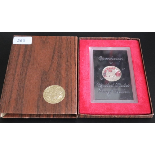 260 - Eisenhower 1971 United States Proof Dollar In Presentation Case...