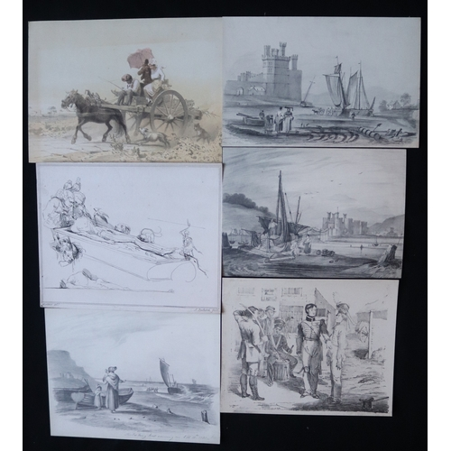 451 - Collection Of 27 Old Prints Of Mixed Heritage...