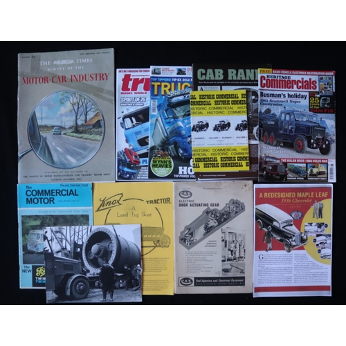 452 - Mixed Lot Of Motoring Ephemera To Include The Times Survey Of The Motor Car Industry October 1953 Pu...