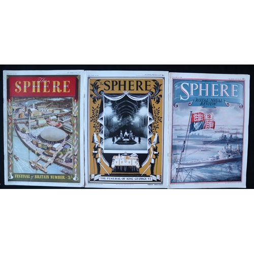 458 - The Sphere Publication, June 2 1951, February 23 1952 And June 20 1953...