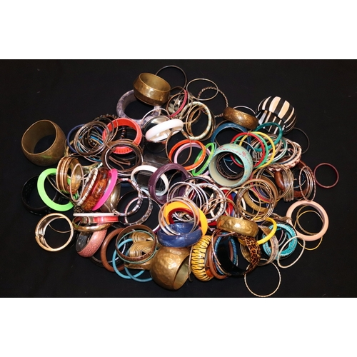 244 - Over 150 Bangles, Assorted Designs...