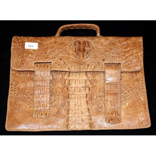 384 - Alligator/Crocodile Skin Briefcase...