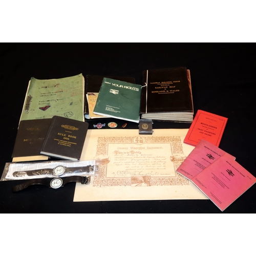 490 - Railway Interest, Collection Of Railway Ephemera Etc. Includes Great Western Railway 1907 Examinatio...