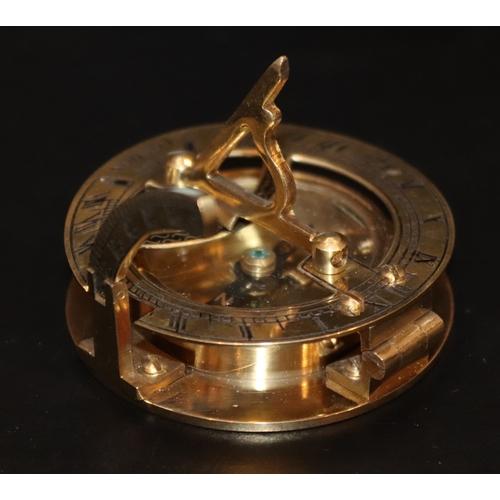 288 - Brass West London Compass/Sundial...