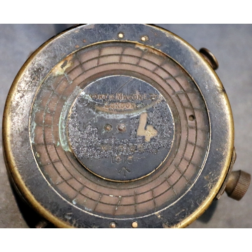 289 - WWI Military Compass, Short & Mason Ltd London, Verners VII No. 15189 1915...