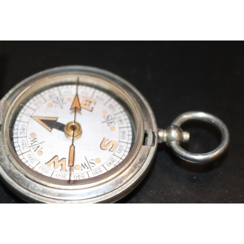 292 - Military Compass, Full Hunter Case Dennison Birmingham VI 11342 1917...