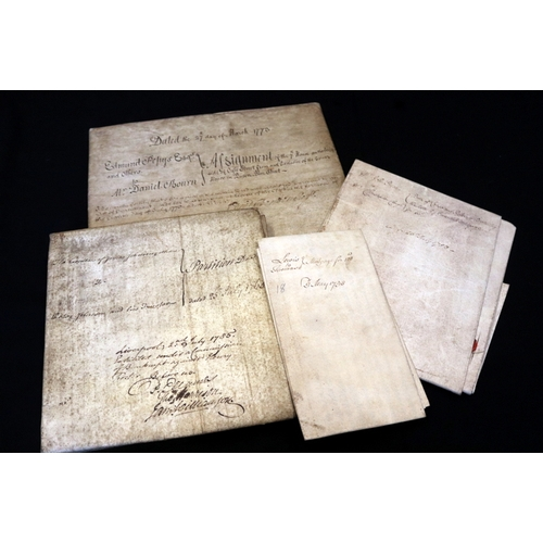 434 - Four 18th Century legal documents/Indenture on Vellum, Two Dated 1753, 1765 & 1773...