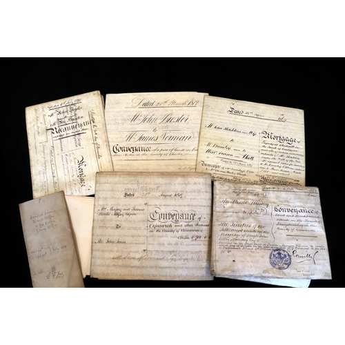 436 - Collection Of Deeds, Legal Documents & Indentures, Dated 1873, 1864, 1849, 2 x 1879 & 1865...