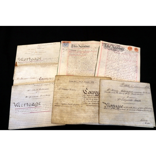 438 - Three Antique Gresford Deeds On Vellum, Dated 1861, 1876 and 1879. Together With Four Others...