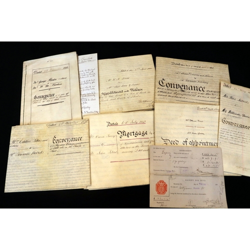 443 - Collection Of 9 Antique Conveyance Documents, Deeds & Indentures, Dates To Include 1834, 1895, 1842,...