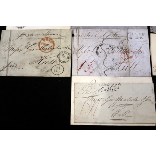 483 - Eleven Postal History Letters, 4 With Penny Red Stamps, Earliest Dated 1837...