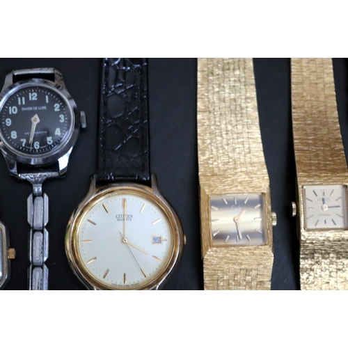 139 - Mixed Collection Of Watches To Include Bucherer, Junghans, Electa, Accurist, Limit, Imado, Swiss De ...