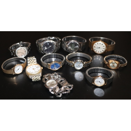 142 - Mixed Collection Of Watches To Include Timex, Sandez, Texas Instruments, Rotary, Sekonda Etc. 11 In ...