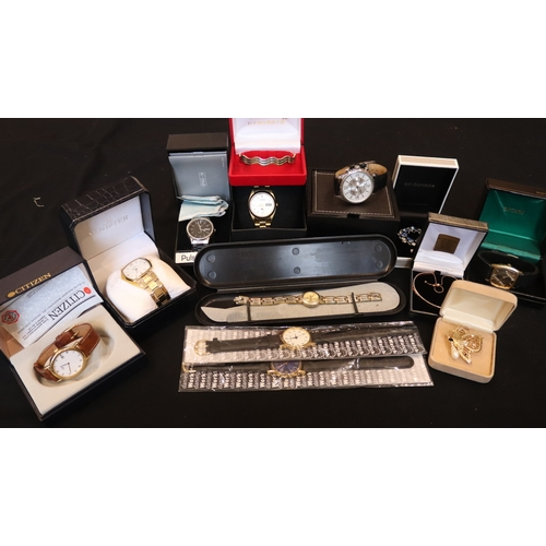 221 - Quantity Of Boxed Watches And Costume Jewellery To Include Rotary, Massimo Dutti, Pulsar Quartz, Cit...