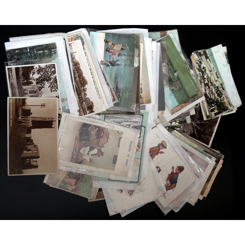 338 - Over 100 Old Postcards, Early 20thC Onwards To Include Topographical, Humour, Glamour, Foreign Etc....