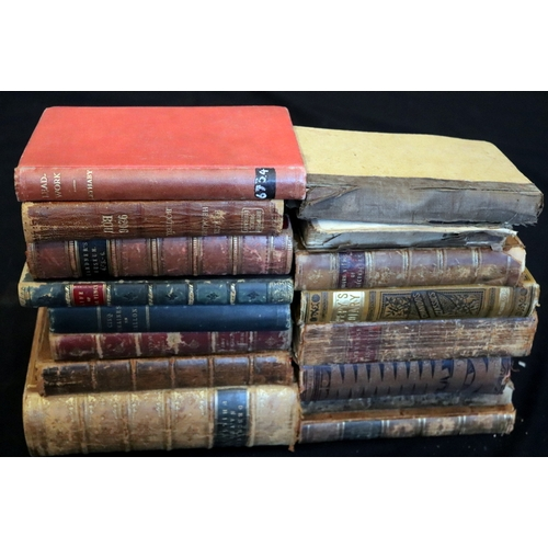 432 - Collection Of Hard Back Books, To Include 1755 A Treatise Of Algebra By Thomas Simpson, 1882 Element...