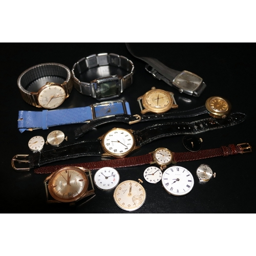 187 - Collection Of Wristwatches, To Include A Felca Automatic Daydate, 21 Jewel Manual Wind Accurist, Tho...