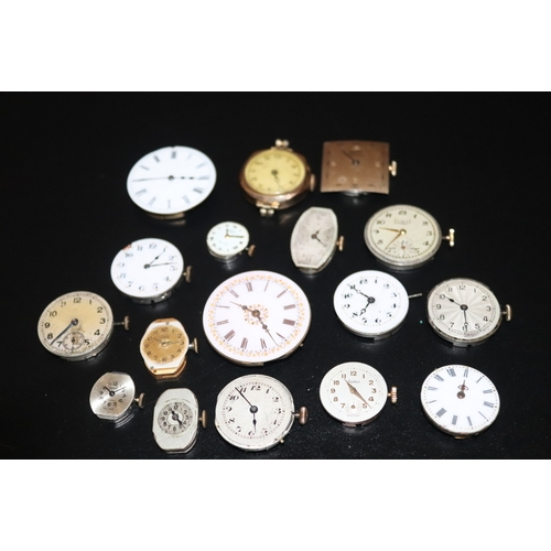 249 - Mixed Lot Of Watch/Pocket Watch Movements To Include Felca, Corvette, Smiths Astral, Rotary, Audax E...