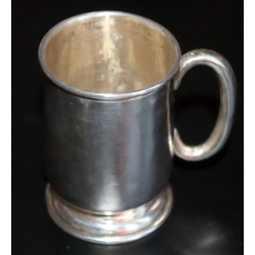 276 - Silver Tankard, Fully Hallmarked For Joseph Gloster, Birmingham, Height 37mm, Weight 76.4g...