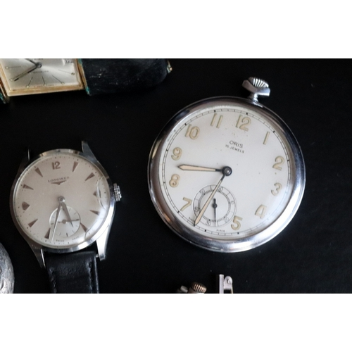 240 - Mixed Collection To Include A Stainless Steel Gents Longines Wristwatch, Silvered Dial, Baton Numera...