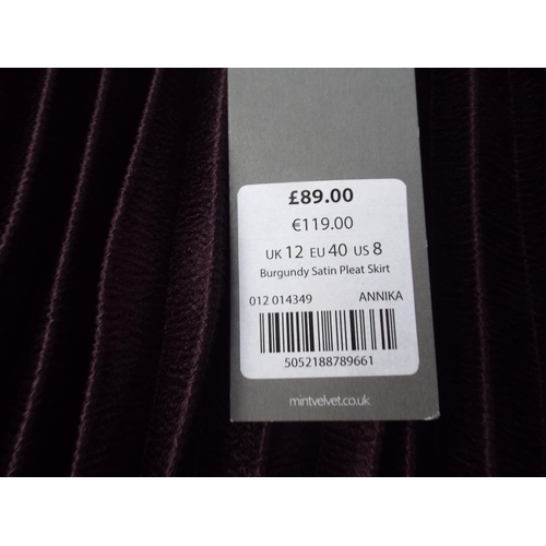 51 - New & tagged Mint Velvet skirt tagged at 89.00 size UK12...