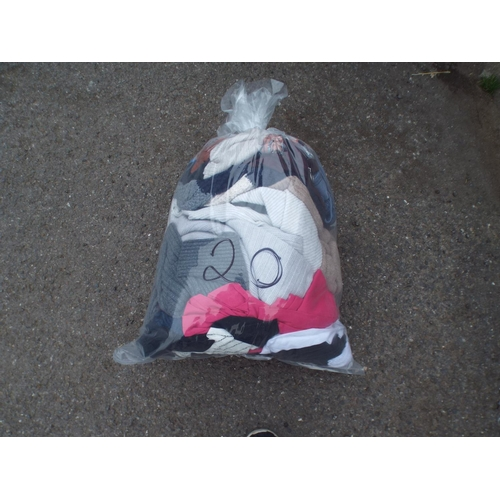 20 - Bag of womens clothing...