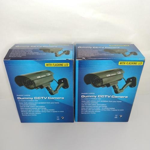 10 - 2 x Dummy CCTV Camera with flashing LED - GRADE A...