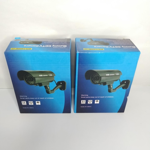 11 - 2 x Dummy CCTV Camera with flashing LED - GRADE A...