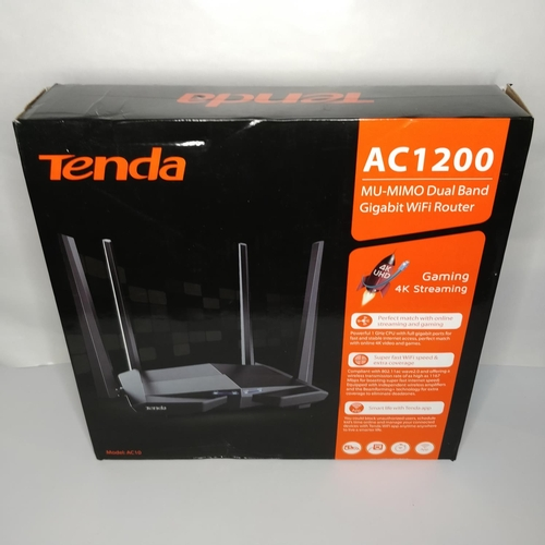 20 - Tenda AC1200 MU-MIMO Dual Band Gigabit Wifi Router - GRADE U...