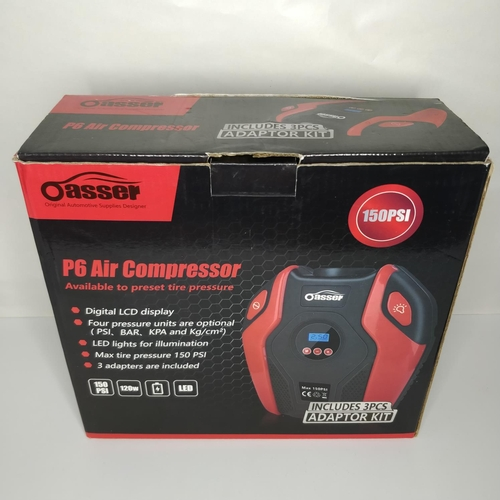 6 - Oasser P6 air compressor 150PSi - GRADE U...