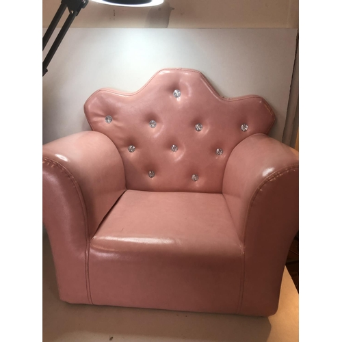 34 - Kids pink chair PLEASE NOTE NOT POSTABLE