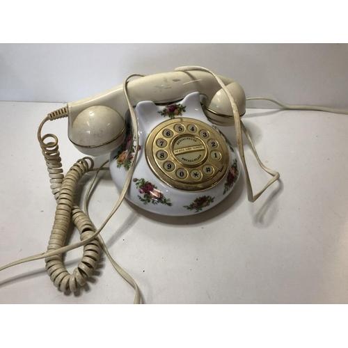 16 - Royal Albert Old Country Rose phone