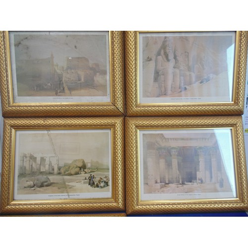 9 - 6 prints depicting scenes from Egypt...