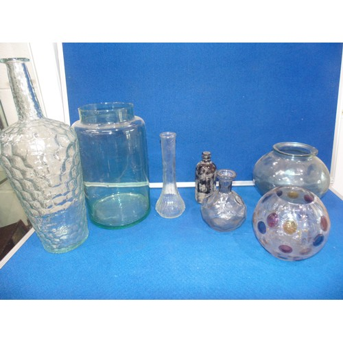 35 - Glass vases and bowls...