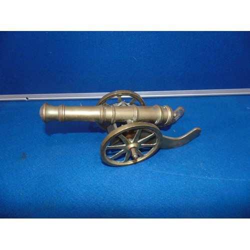 39 - Large brass cannon...