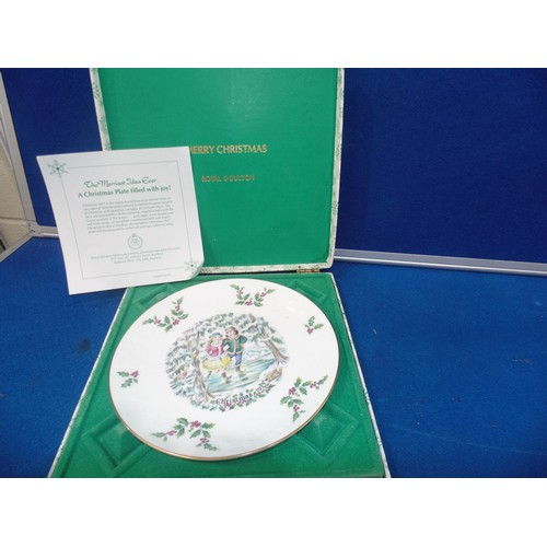 45 - Royal Doulton christmas plate...